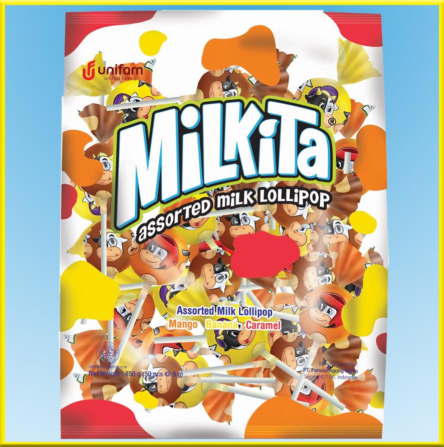 Kẹo sữa Milkita vị (xoài, chuối, caramel) – Gói 50 que