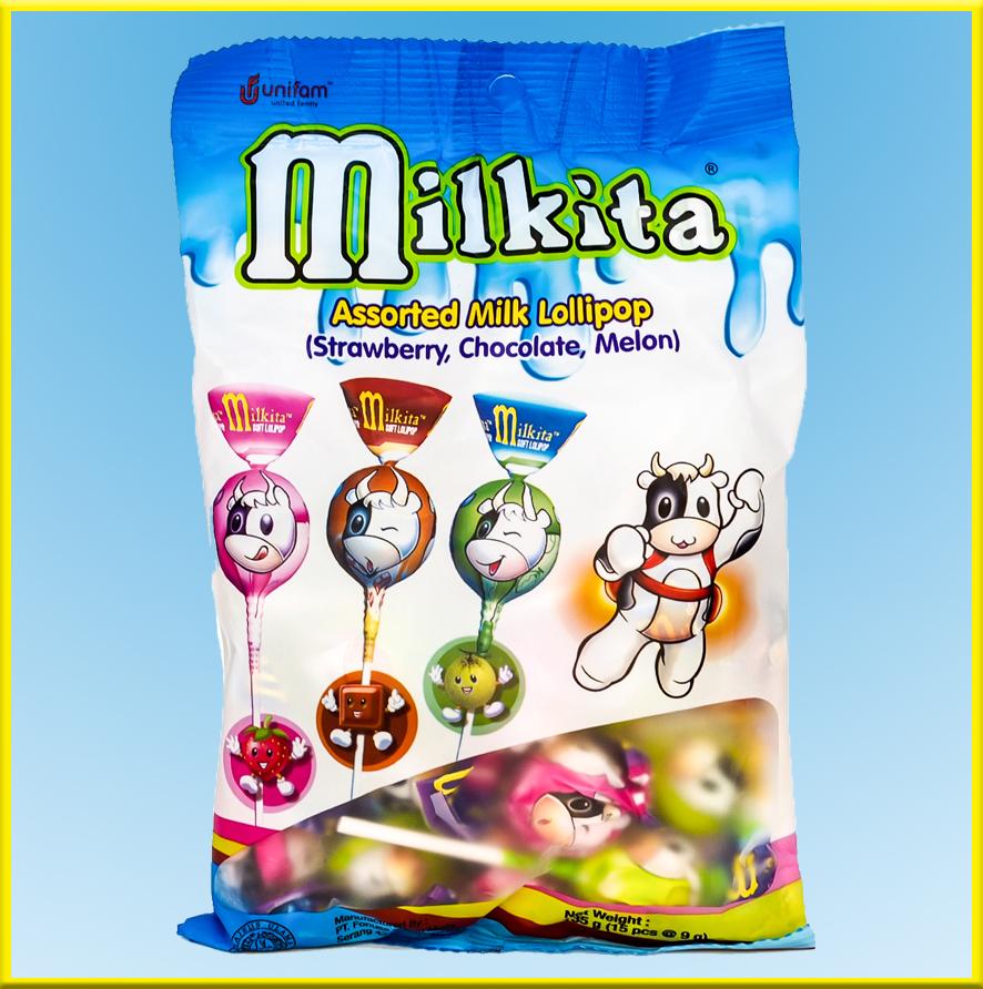 Kẹo sữa Milkita vị (sữa, dưa gang, sô cô la) - Gói 15 que